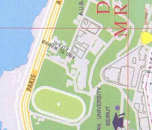 Beirut Abd El Wahab Rifahi AUB American University Of Beirut - American university map