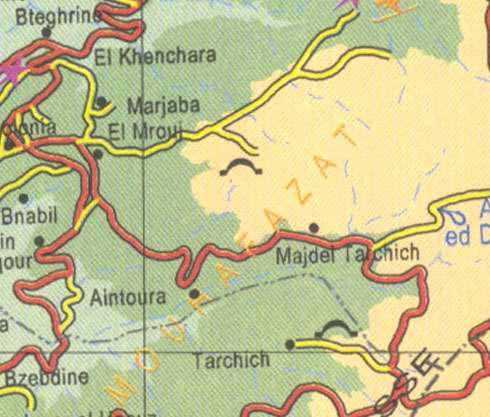 Lebanon Bteghrine El Khenchara El Mrouj Aintoura Tarchich