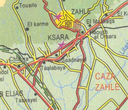 Maps Zahle Ksara El Karme Saadnayel Taalabaya