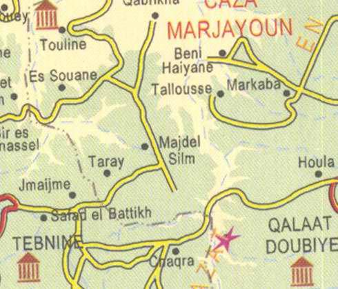 Lebanon Touline Marjayoun Beni Haiyane Markaba Tebnine