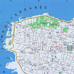 Maps of Beirut details map street map directions borders