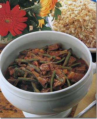 Lebanese green bean stew recipesbnb lebanese recipes green bean stew fresh meat bones pepper forumfinder Image collections
