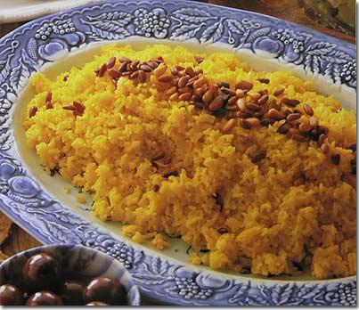 Lebanese recipes spicy rice for fish cup olive pine for Rice recipes to go with fish