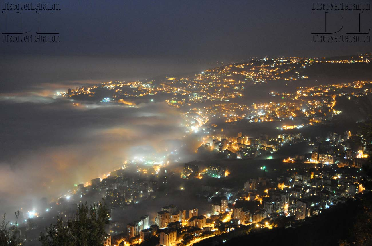 Jounieh Lebanon  city photos gallery : Wallpaper Lebanon Image Picture Jounieh Under Fog 2012 Weather Night