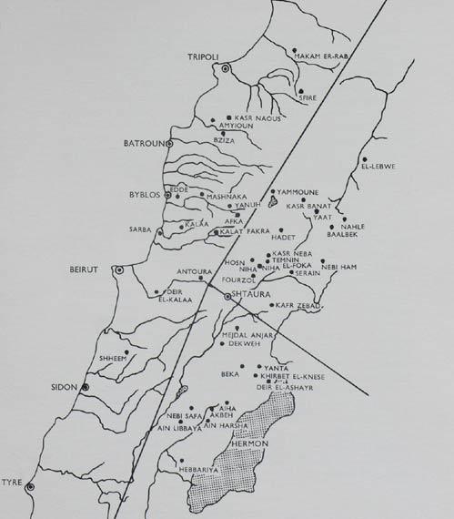 Architectural achievements Roman temples map Lebanon George Taylor
